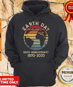 Official Retro Earth Day 50th Anniversary 1970 Retro Sunset Hoodie