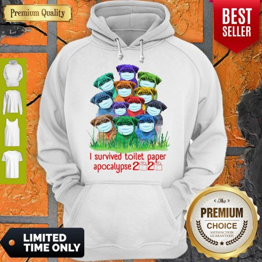 Awesome Pug I Survived Toilet Paper Apocalypse 2020 Hoodie