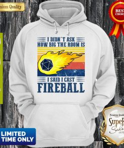 Awesome I Didn't Ask How Big The Room Is I Said I Cast Fireball Sunset Hoodie