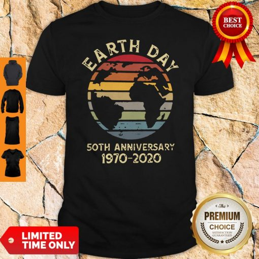 Official Retro Earth Day 50th Anniversary 1970 Retro Sunset Shirt