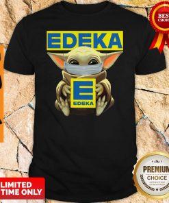 Funny Baby Yoda Mask Edeka Coronavirus Shirt