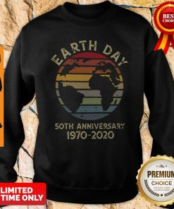 Official Retro Earth Day 50th Anniversary 1970 Retro Sunset Sweatshirt