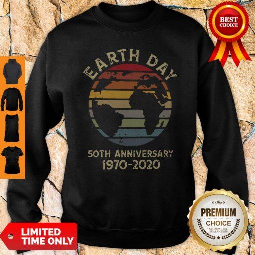 Official Retro Earth Day 50th Anniversary 1970 Retro Sunset Sweatshirt