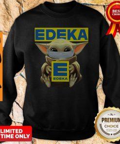 Funny Baby Yoda Mask Edeka Coronavirus Sweatshirt