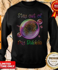 Official Leopard Sunflower Stay Out Of My Bubble Sweatshirt