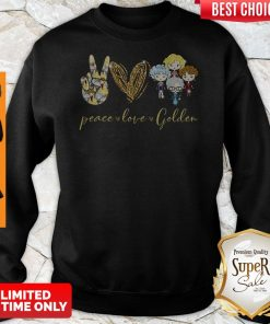 Funny Peace Love Golden Sweatshirt