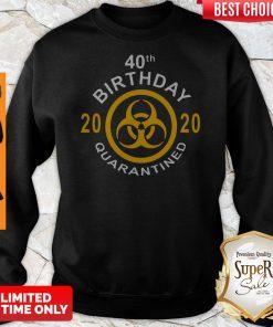 Official 40th Birthday 2020 Quarantined Sweatshirt