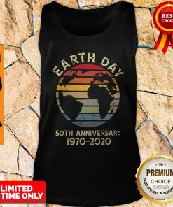 Official Retro Earth Day 50th Anniversary 1970 Retro Sunset Tank Top
