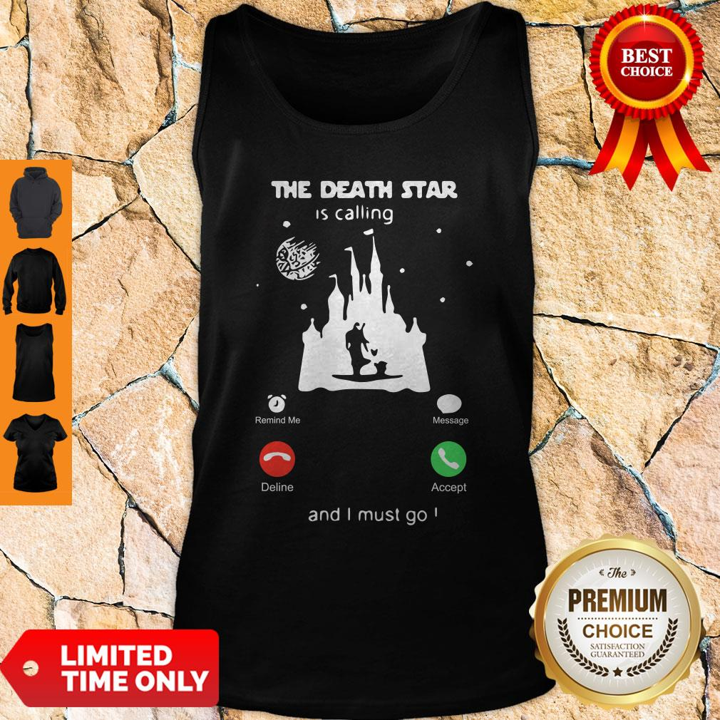 Madalorian And Baby Yoda The Death Star Is Calling And I Must Go Tank Top