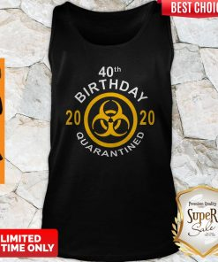 Official 40th Birthday 2020 Quarantined Tank Top