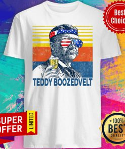 Nice Retro Independence Day Beer Teddy Boozedvelt Shirt