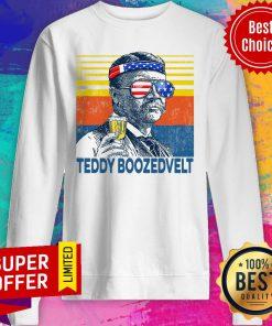 Nice Retro Independence Day Beer Teddy Boozedvelt Sweatshirt