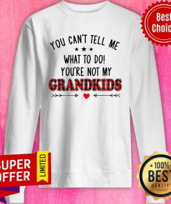 Nice You Can't Tell Me What To Do You're Not My Grandkids Sweatshirt