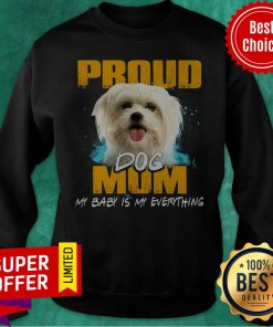 Official Proud Dog Mom My Baby Is My Everything Sweatshirt