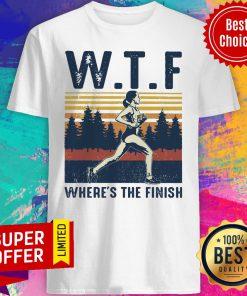 Premium Vintage WTF Hoeing Ain't Easy Shirt