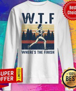 Premium Vintage WTF Hoeing Ain't Easy Sweatshirt