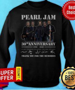 Pearl Jam 30nd Anniversary 1990 2020 Thank You For The Memories Sweatshirt