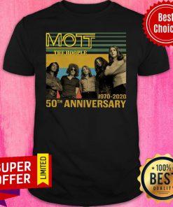Top Mott The Hoople 1970 2020 50th Anniversary Shirt