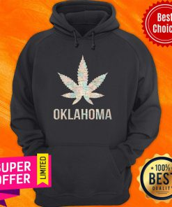 Funny Weed Cannabis Oklahoma Flag Hoodie
