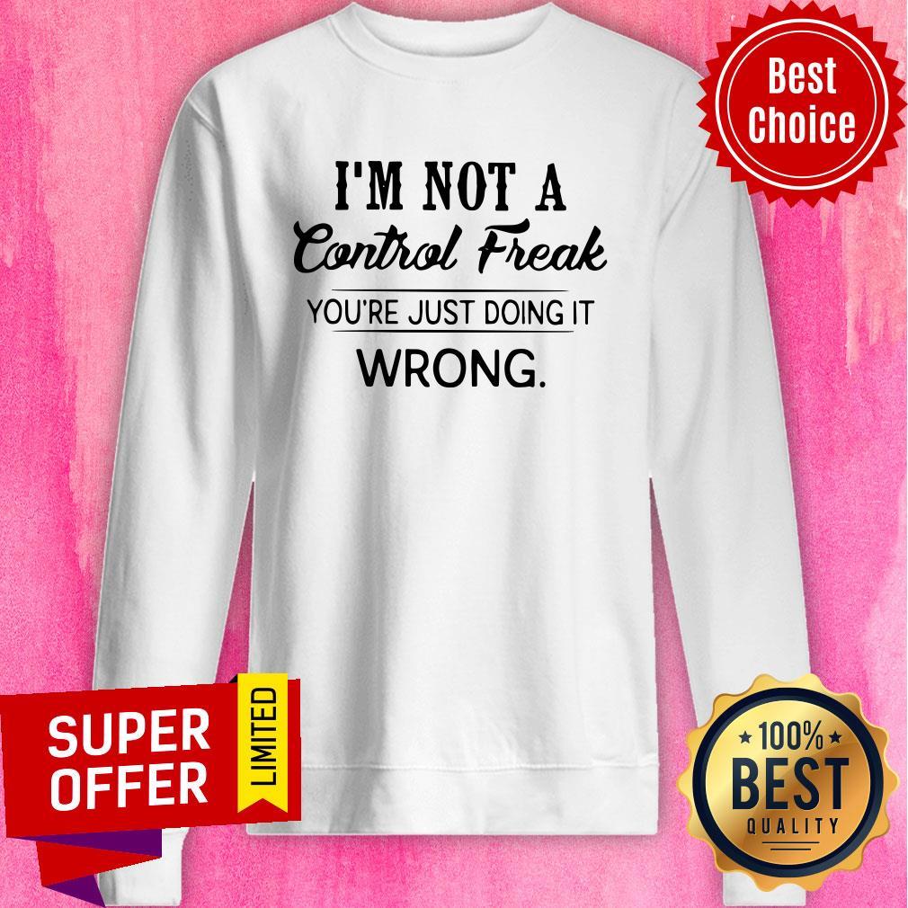 Comical Shirt Ladies Im Not A Control Freak Racerback