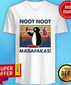 Nice Penguin Noot Noot Madafakas Vintage V-neck