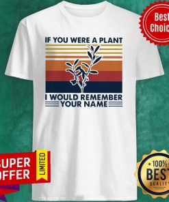 Nice Vintage If You Were A Plant I Would Remember Your Name Shirt