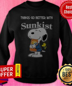 Official Snoopy Hug Sunkist Things Go Better With Sunkist Sweatshirt