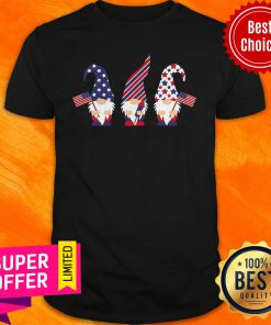 Top 4th Of July Gnome American Flag Shirt