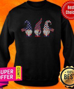 Top 4th Of July Gnome American Flag Sweatshirt