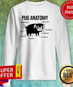 Top The Pug Anatomy Pug Sweatshirt