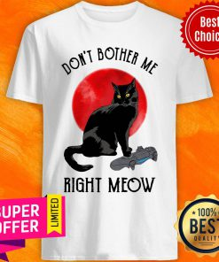 Awesome Cat Don't Bother Me Right Meow Shirt