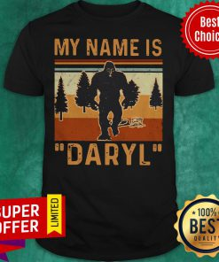 Awesome My Name Is Daryl Vintage Shirt