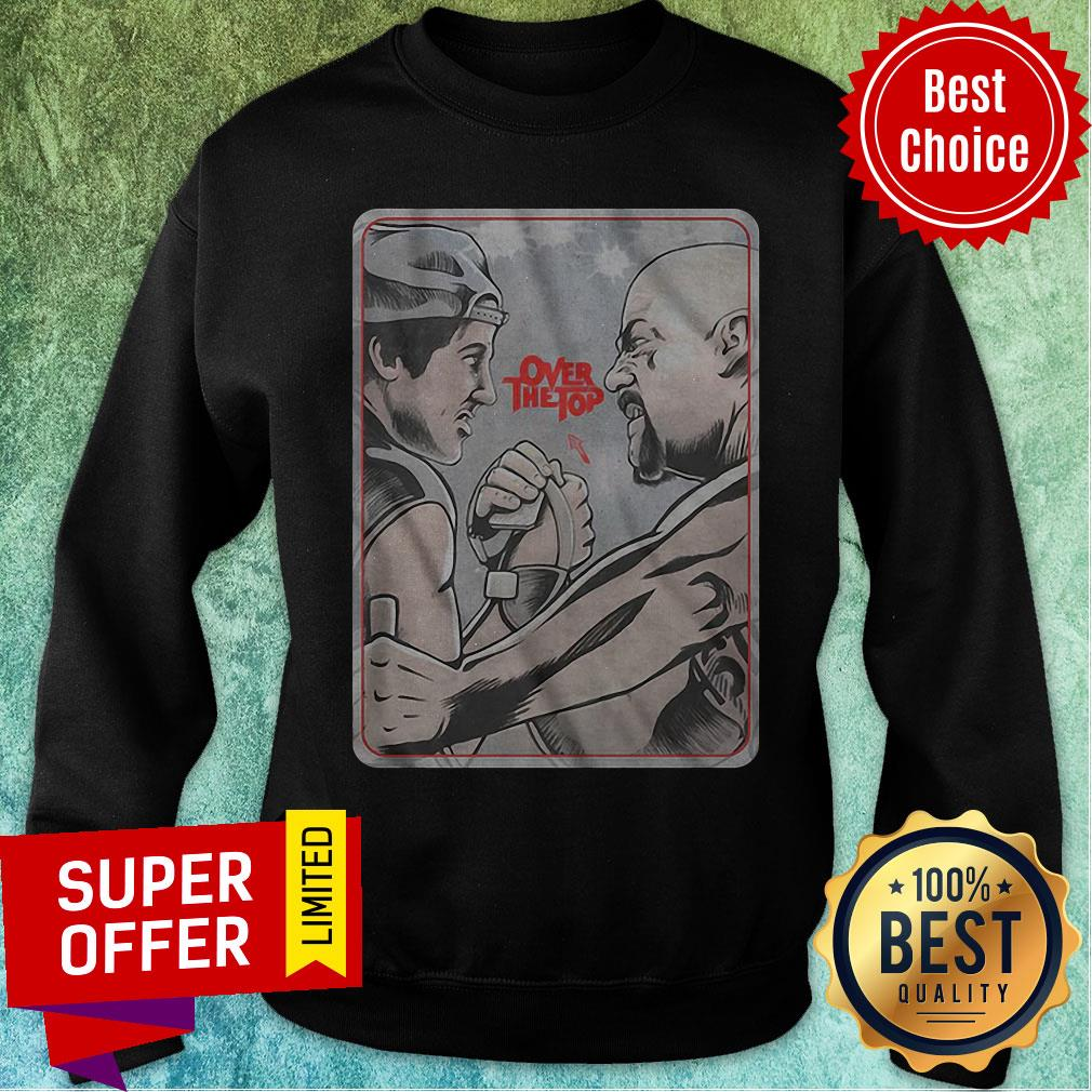 Funny Lincoln Hawk vs Bull Hurley Over The Top Sweatshirt