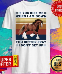 Horse If You Kick Me When I Am Down You Better Pray I Don't Get Up Shirt