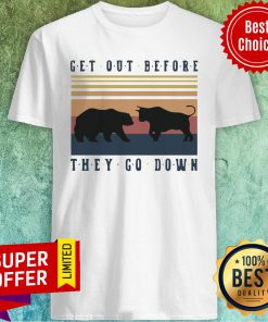 Nice Bear And Buffalo Get Out Before They Go Down Shirt