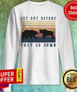 Nice Bear And Buffalo Get Out Before They Go Down Sweatshirt