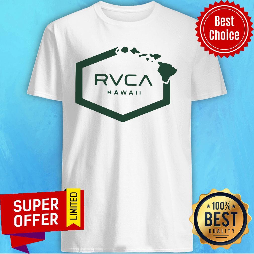 Nice Rvca Islands Hex Hawaii Shirt