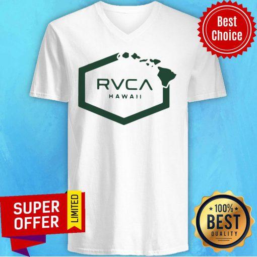 Nice Rvca Islands Hex Hawaii V-neck