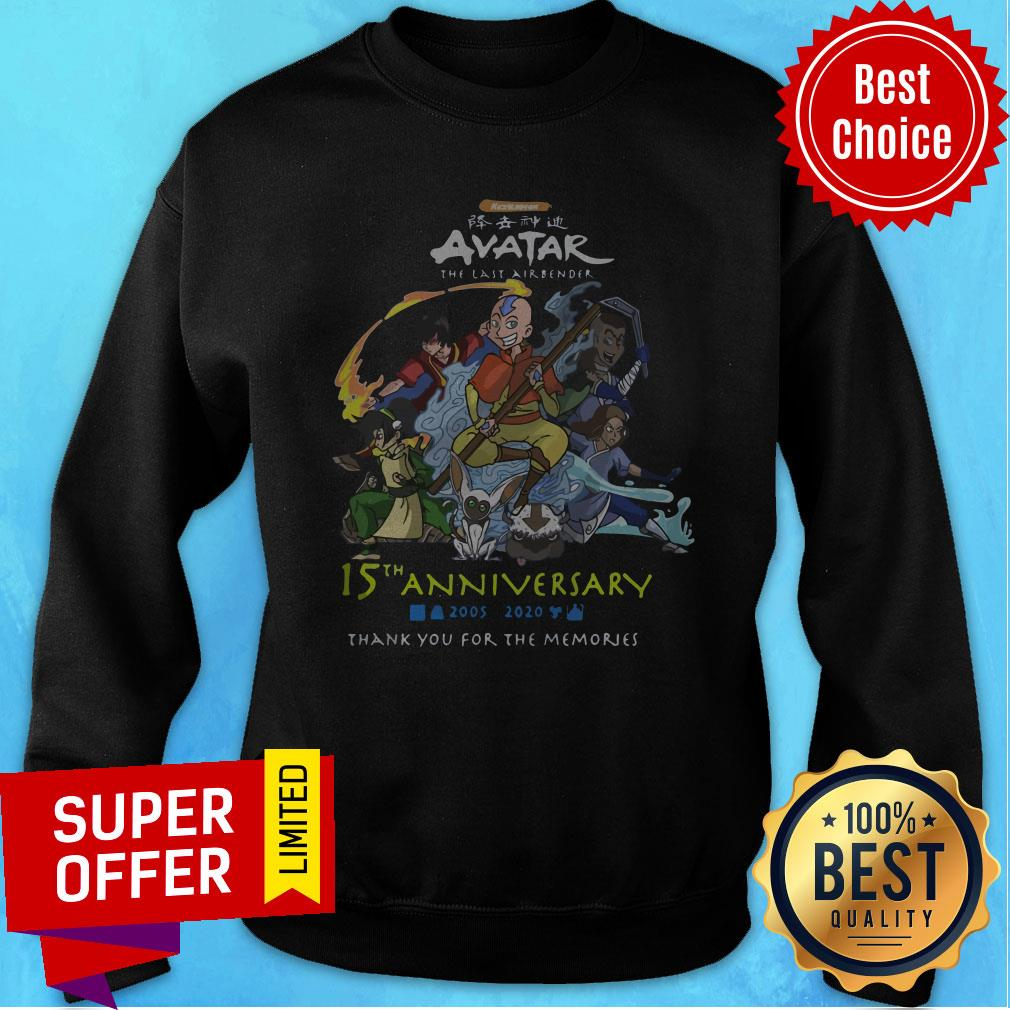 Nickelodeon Avatar The Last Airbender 15th Anniversary 2005 2020 Thank You For The Memories Sweatshirt