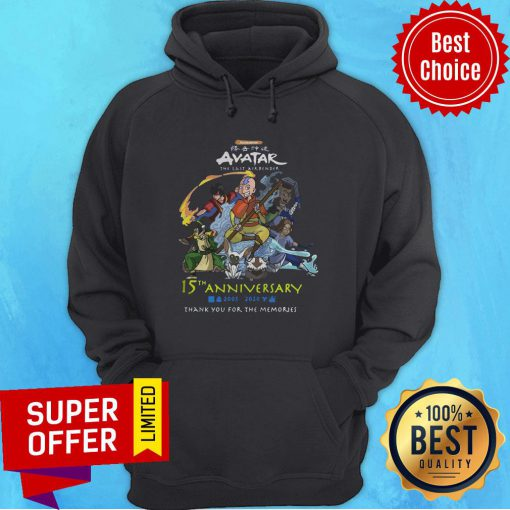 Nickelodeon Avatar The Last Airbender 15th Anniversary 2005 2020 Thank You For The Memories Hoodie