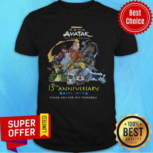 Nickelodeon Avatar The Last Airbender 15th Anniversary 2005 2020 Thank You For The Memories Shirt