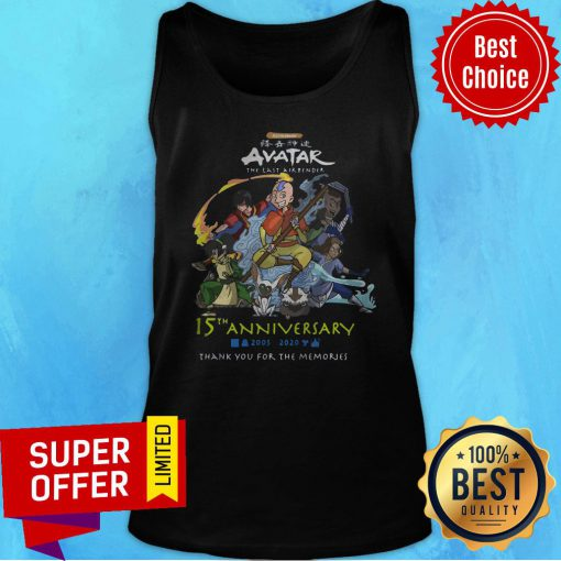 Nickelodeon Avatar The Last Airbender 15th Anniversary 2005 2020 Thank You For The Memories Tank Top