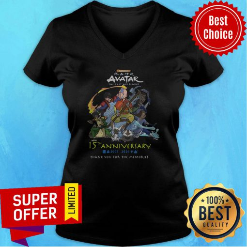 Nickelodeon Avatar The Last Airbender 15th Anniversary 2005 2020 Thank You For The Memories V-neck