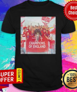 Official Liverpool Champions Of England Legend Shirt