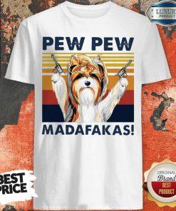 Premium Biewer Terrier Pew Pew Madafakas Vintage Shirt