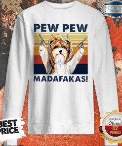 Premium Biewer Terrier Pew Pew Madafakas Vintage Sweatshirt