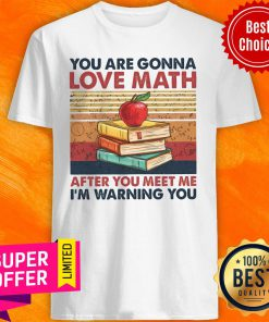 Top Vintage You Are Gonna Love Math After You Meet Me I'm Warning You Shirt