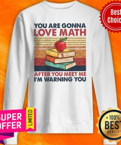 Top Vintage You Are Gonna Love Math After You Meet Me I'm Warning You Sweatshirt