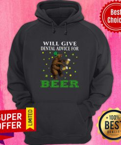 Awesome St. Patrick's Bear Will Give Dental Advice For Beer Hoodie