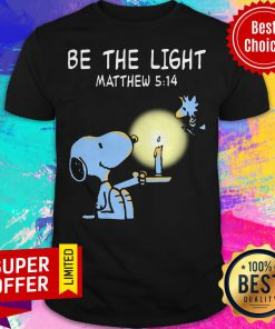 Funny Snoopy and Woodstock Be The Light Matthew 514 Shirt